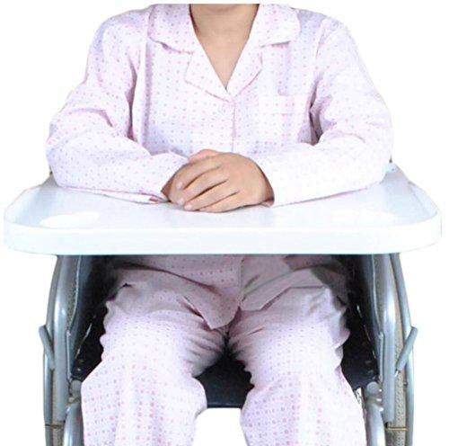 XYLUCKY Universal Typ Patienten Rollstuhl ABS Kunststoff Stahl Tischplatte / Tisch Mahlzeit Tisch Zubehör / Weiß, 58 × 4,5 × 62,5 cm -