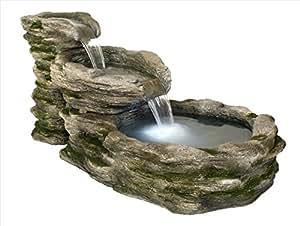 Gartenbrunnen Zimmerbrunnen Wasserfall mit Beleuchtung