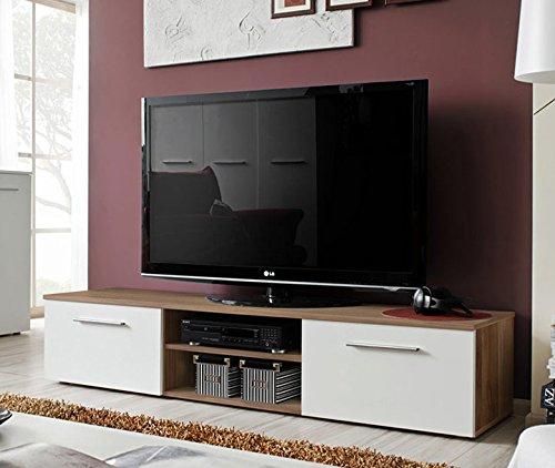 Lettiemobili -Mobile TV modello Rolano ciliegio e bianco