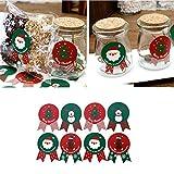 96 Stücke Weihnachten Label Aufkleber Backen Cookie Candy Paket Dekoration, QHJ Weihnachtsschmuck Dekorative Kugeln Urlaub Party Supply Home Festival Dekore (A)