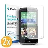 smartect Panzerglas kompatibel mit HTC Desire 526g [2 Stück] - Displayschutz mit 9H Härte - Blasenfreie Schutzfolie - Anti Fingerprint Panzerglasfolie