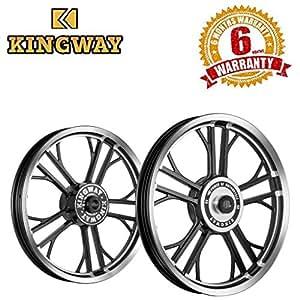 Kingway HR2E Y Model Bike Alloy Wheel  19/19 Inch Black CNC-Royal Enfield Electra (Set of 2)