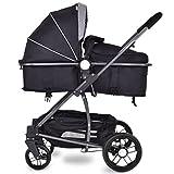 COSTWAY Multi Kinderwagen Buggy Kombikinderwagen Babywagen Sportwagen Babyschale 2in1 Babywanne