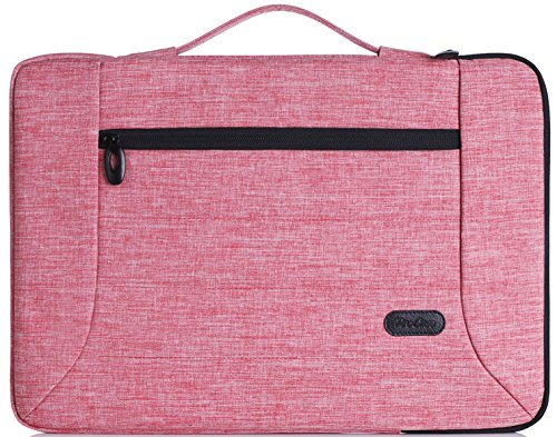 ProCase 13-13,5 Zoll Laptop Sleeve Case Cover Tasche für 13 Zoll MacBook Pro/MacBook Air, Oberfläche Buch 2, die meisten 12-13 Zoll Laptop Ultrabook Notebook MacBook Chromebook -Rosa (Tastatur Rosa Chromebook)
