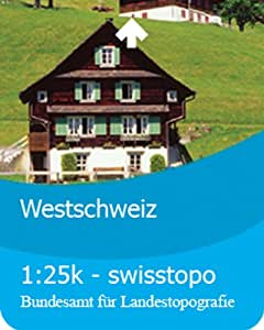 Satmap GPS Map Card 1:25000 Westschweiz Size:1:25000