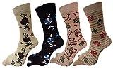 Elegant Cotton Floral Design socks for W...