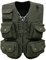 Fly Fishing Photography Climbing Vest with 13 Pockets made with Lightweight Mesh Fabric for Travelers, Sports, Hiking, Bird Watching, River Guide Adventures and Hunting