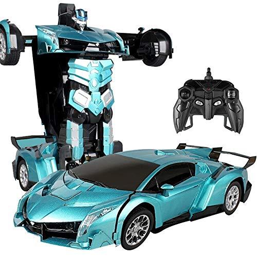 Kikioo Dual Mode Elektro RC Auto Roboter Modelle Fernbedienung Autos Verformung Spielzeug One Touch Transform Allradantrieb Driften 360 ° Drehen Stunt Sound & Lichteffekt Für Jungen Kinder Kinder Gesc - Toy Story 4k