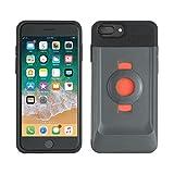 Tigra Sport FitClic Neo Coque pour iPhone 6+/6s+/7+/8+ - Noir/Gris