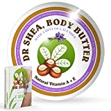 Organic Shea Butter - Lavender Essential oil - By Dr Shea - 100% Vegan - Aroma Therapy Massage Super Soft Moisturising Body Cream. Relaxing Benefits - Spa Treatment - face - Hair - Dry skin