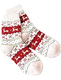 Morbuy Calcetines Deportivos Mujer Niña, Lana de Conejo Calcetines Gruesos Mantener Caliente Calcetines de Ciervo