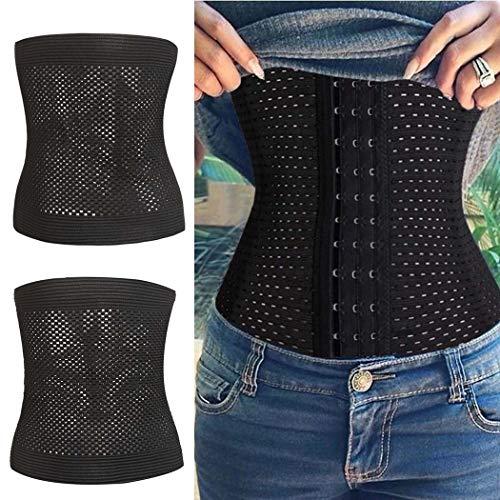 Murieo Femmes Casual Ventre Minceur Workout Serre-Taille Formateur Trimmer  Corset Waist Ceinturon Underbust Belt (XL, Noir) 38e7deb4ce2