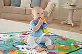 Fisher-Price – Große Spiel- und Krabbeldecke mit Tiermotiven und Babyspielzeug, 1 x 1.50 m, blau - 4