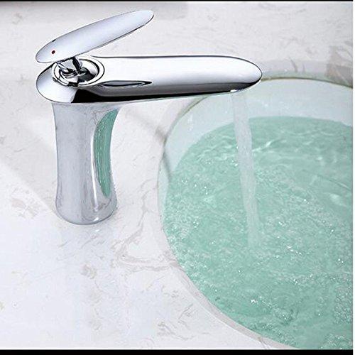 Infrarot-tischplatte (Detianduhou Waschbecken Wasserhahn heiß und kalt Kupfer Tischplatte Waschbecken Badezimmer Schrank einzigen Griff Doppel Loch vertikal)