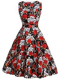 Amazon.it  vestito motivi floreale - Donna  Abbigliamento f3567f0b19d7