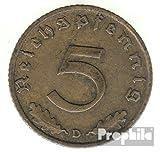 Deutsches Reich Jägernr: 363 1938 D sehr schön Aluminium-Bronze sehr schön 1938 5 Reichspfennig Reichsadler (Münzen für Sammler)