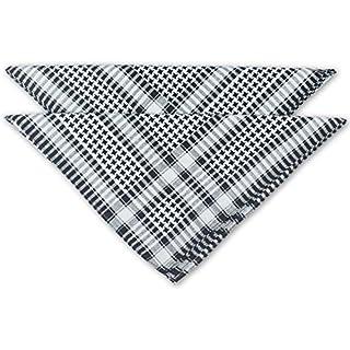 FashionCHIMP Nicki-Halstuch aus 100% Baumwolle im 2er Set, Unisex Bandana, AZO-Frei (Grau-Pepita)