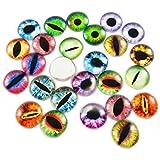 200 cabujones redondos de cristal de 8 x 8 mm para hacer ojos de animales o