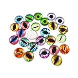Glas-Cabochon für Puppen und Augen, rund, 8 x 8 mm, 200 Stück
