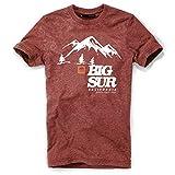 DEPARTED Herren T-Shirt mit Print/Motiv 3818-150 - New Fit Größe L, Dusk Canyon Red