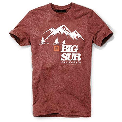 DEPARTED Herren T-Shirt mit Print/Motiv 3818-150 - New fit Größe M, Dusk Canyon red -