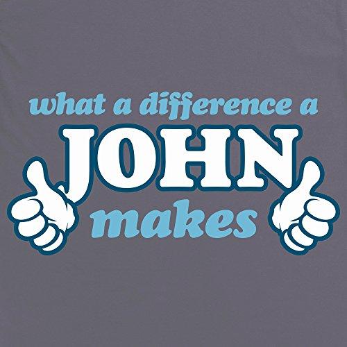 What A Difference A John Makes T-Shirt, Damen Anthrazit