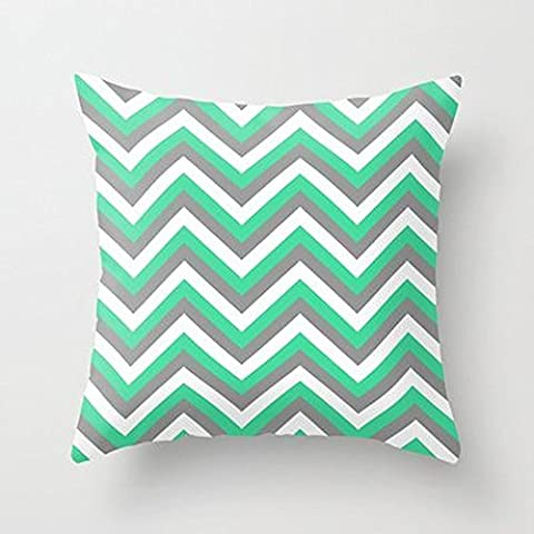 My Honey Pillow Mint Green White And Grey Chevron Throw Pillow By Rebekah Joanfor Your Home