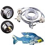 Yosoo - Impianto generatore di CO2 per acqua di acquari, per pesci e piante, con accessori