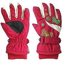 iBelly Handschuhe F/äustlinge f/ür Kinder Skihandschuhe Outdoor Sporthandschuhe Fahrradhandschuhe Winter Warm Wasserdicht Winddicht Radsport Handschuhe f/ür Junge und M/ädchen