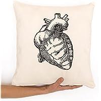 Herz kissenbezug, Liebesgeschenk, Medizin, Anatomie. und Reißverschluss