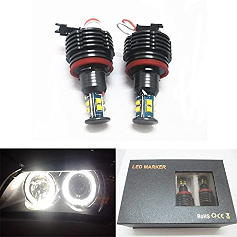 CREE LED Lampe 80 W H8 HID Xenon 6000 K Fehlerfrei Angel Eyes Halo Ring für BMW E60 E70 E87 E90 E92 E93 X5 X6 Z4 M3