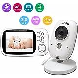 'zofu 3.2Vigilabebés con cámara Video Vigilancia TFT LCD digital dual función de audio, Wireless Baby Monitor, sensor de temperatura, NANAS, visión nocturna, con interfono