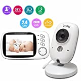"Babyphone mit Kamera Video Überwachung Baby Monitor 3.2"" TFT LCD Digital dual Audio Funktion ,wireless Baby Monitor ,Temperatursensor, Schlaflieder, Nachtsicht, Gegensprechfunktion"