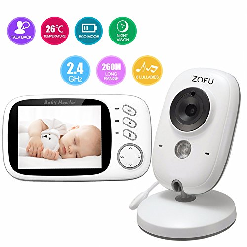 Baby Monitor ZOFU 3.2″ LCD Digital Screen for Signal Transmission Two-way Talk Wireless Video Camera Support Night Vision Voice Activation Temperature Monitoring Built-in Lullabies 515kyLDQHjL