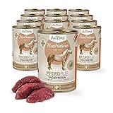AniForte Hundefutter Pferd Pur 12 x 400g für Hunde, Nassfutter ohne künstliche Vitamine oder Chemie, Barf Futter