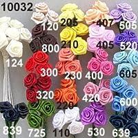 Escofina ribbon-rose flores artificiales, color azul, 14mm