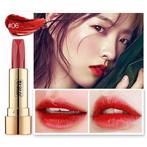 Nouveau Mode Matte,Rouge à LèVres Hydrofuge Durable à Double Face Brillant Brillant à LèVres Sexy Mat Gloss Long Lasting Lipstick