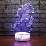 Nachtlicht Baby Nachttischdekorationen Neuheit Kindergeschenke 3D Usb Laufband Simulation Tischlampe Led Led Nachtlicht Touch-Taste Beleuchtung