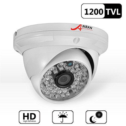 Galleria fotografica ANRAN 1200TVL LED ad alta risoluzione 48 LED a colori Day Vision di visione notturna a raggi infrarossi impermeabile Outdoor / Indoor Dome Surveillance CCTV Camera