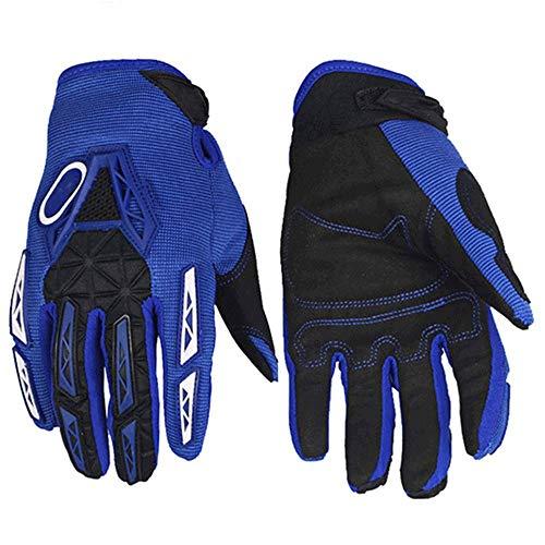 VSousT Fahrradhandschuhe Motorradhandschuhe Atmungsaktive Fahrradhandschuhe Offroad Motorrad Offroad Reithandschuhe Motorradhandschuhe rennrad Trikot Herren (Color : Blue, Size : M) -