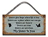 Best Sisters - Funny Sign Birthday Occasion Shabby Chic Wooden Wall Review