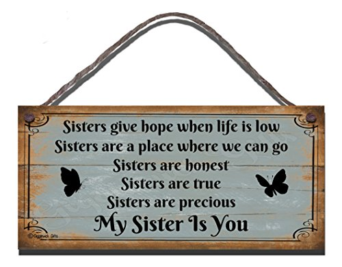 Funny-Sign-Birthday-Occasion-Shabby-Chic-Wooden-Wall-Plaque-Gift-Present-Sisters-Give-Hope-When-Life-Is-Low