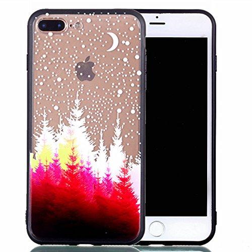 Preisvergleich Produktbild Hülle iPhone 7 Plus iPhone 8 Plus 5.5 Zoll TPU schutz silikonhülle, niedlichen cartoon bild transparent handy Case für iPhone 7 Plus iPhone 8 Plus (5.5 Zoll) (*/253) (10)