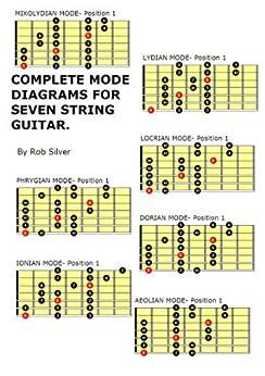 COMPLETE MODE DIAGRAMS FOR SEVEN STRING GUITAR. (Basic Scale Guides for Seven String Guitar Book 1) (English Edition) di [Silver, Rob]