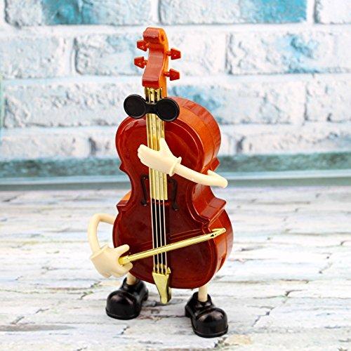 Yonsenner Joyero Musical clásico Caja de música Caja de música de diseño de violín para Regalo de día para niños y decoración de Tienda de Instrumentos Musicales
