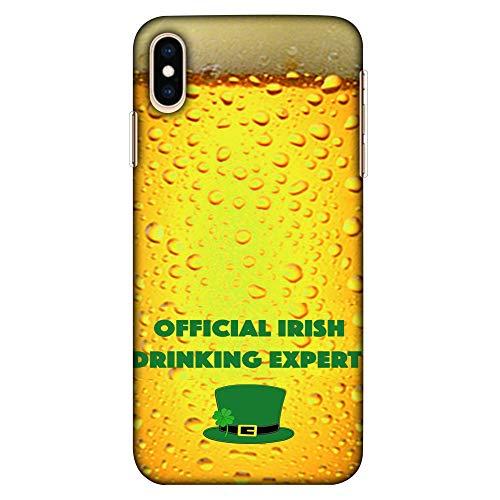 Amzer Hartschalen-Schutzhülle für Apple iPhone XS Max (ultradünn, Motiv: Bier-Overall, offizielles Irish Drinking Expert HD) Farbe