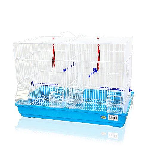 DZL Jaula para pajaros(58X32X40CM) Color Azul,Verde,Naranja y Blanco Indica Color Preferido, si no el Color de la Entrega al Azar