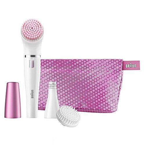 Braun Face Gesichtsepilierer und Gesichtsreinigungsbürste 832s, rosa