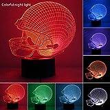 Txyfyp Notte Luci 7 Colore Sports Capsule Calcio Casco Festa Toccabili Gradiente Colore 3D Regali