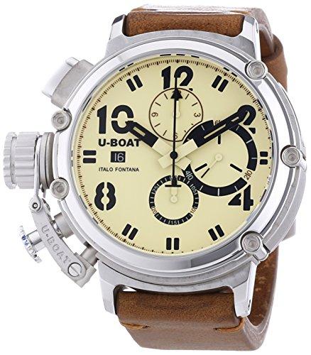 U-Boat  7107 - Reloj de automático para hombre, con correa de otros materiales, color marrón